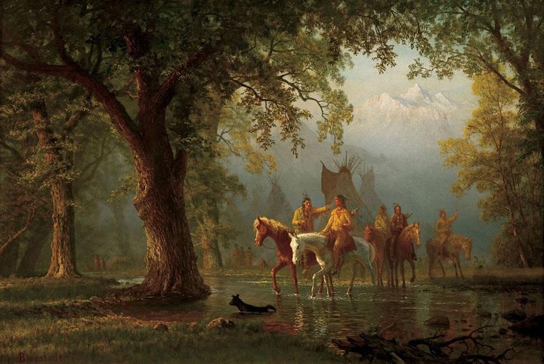 Albert_Bierstadt,_Departure_of_an_Indian_War_Party